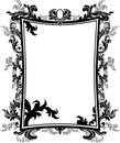 Ornate vintage frame stencil Royalty Free Stock Photos