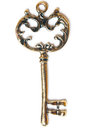 Ornate vintage metal key Stock Images