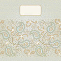Ornate vintage seamless border with lacy ornament persian style background place for your text it can be used for decorating of Royalty Free Stock Photography