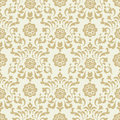 Ornate vintage seamless damask background Royalty Free Stock Photo