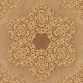 Ornate vintage seamless pattern in mehndi style circle vector Stock Photo