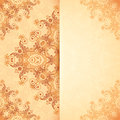 Ornate vintage template in indian mehndi style card Stock Photography