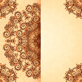 Ornate vintage template in indian mehndi style card Royalty Free Stock Image