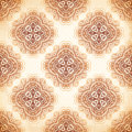 Ornate vintage vector background in mehndi style beige Stock Image
