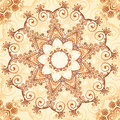 Ornate vintage vector pattern in mehndi style seamless Royalty Free Stock Image