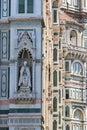 Ornate wall at Cattedrale di Santa Maria del Fiore Royalty Free Stock Photo