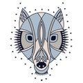 Ornate wolf head