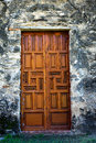 Ornate Wooden Mission Doors Royalty Free Stock Photo