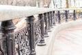 Ornate wrought iron railings