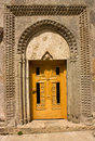 Ornated door of church haghartsin monastery armenia Stock Photo