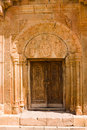 Ornated door of noravank monastery armenia Stock Photography