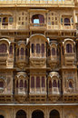 Ornately sculptured haveli jaisalmer rajasthan the golden city is a town in the indian state of it is located kilometres west of Stock Photography