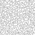 Ornement abstrait (papier peint sans joint de vecteur) Image libre de droits