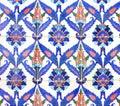 Ornement arabe sur les carreaux de céramique Photo stock