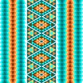 Ethnic seamless geometric pattern. A colorful ornament of stripes on a white background. Vector illustration.