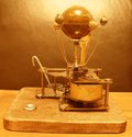 Orrery Steampunk Art clock with jupiter and 4 moons Royalty Free Stock Photo