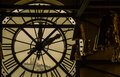 Sacre Coeur from inside the Musee d Orsay Clock Tower Royalty Free Stock Photo
