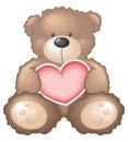 Orso dell'orsacchiotto con cuore Immagini Stock