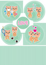 Orso Love Story Card_eps Immagine Stock