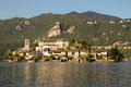 Orta san giulio view of lago d piemonte italy Stock Photography
