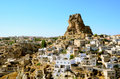 Ortahisar cave city in capapdocia turkey photo of cappadocia Royalty Free Stock Photos