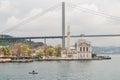 Ortakoy mosque and Bosporus bridge, Istanbul, Turkey Royalty Free Stock Photo