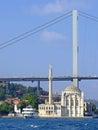 Ortakoy mosque istanbul and the bosphorus bridge Royalty Free Stock Photos