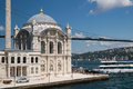 Ortakoy mosque at istanbul the and the bosphorus bridge turkey it was opened to visitors in june after or years of restoration Stock Photography