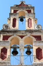 Orthodox bell tower in corfu island greece Stock Images
