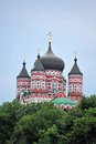 Orthodox cathedral in feofaniya old kiev ukraine Royalty Free Stock Image