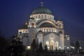 Orthodox cathedral saint sava belgrade Stock Image