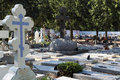 Orthodox cemetery in France Royalty Free Stock Photo
