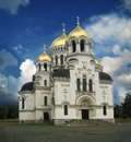 Orthodox Christian Church with Golden domes Royalty Free Stock Photo