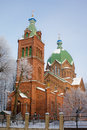 The orthodox church of all saints in riga Stock Photo