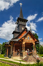 Orthodox church in baile felix romania wooden architecture the resort of transylvania Stock Photo