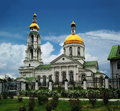 Orthodox church with a bell tower Royalty Free Stock Photos