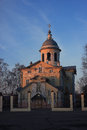 Orthodox church cathedral at dusk evening Royalty Free Stock Photos
