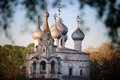 Orthodox church cathedral at evening light Royalty Free Stock Photo