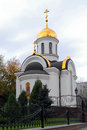 Orthodox Church in the city of Donetsk Royalty Free Stock Image