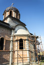 The Orthodox Church in construction Royalty Free Stock Photo