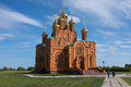 Orthodox church exterior in achairsky holy cross monastery omsk siberia Royalty Free Stock Image