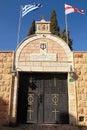Orthodox church of the first miracle wedding church nazareth israel august kafr kanna neighborhood israel Stock Images