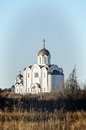 The orthodox church in forest Royalty Free Stock Photography