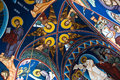 Orthodox church interior and roof paintings Royalty Free Stock Photography