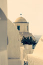 Orthodox church on the island of santorini greece Royalty Free Stock Photo