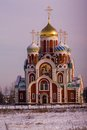 Orthodox Church in Kaluga region (Russia). Royalty Free Stock Photo