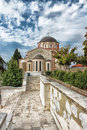 Orthodox church in kavala greece Stock Photography