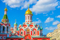 Orthodox church Kazan Cathedral on Red Square in Moscow Royalty Free Stock Photo