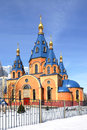 Orthodox church of mother of god derzhavnaya moscow russia Royalty Free Stock Photography