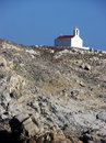 Orthodox church in mykonos traditional white with the cupola on the island Royalty Free Stock Images